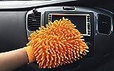 Jumbo Orange Microfiber Chenille mitt Cleaning Glove car wash Washing us Seller 1pc