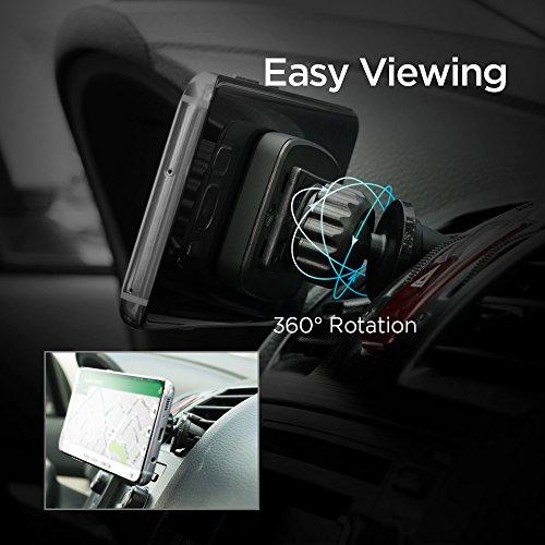 Spigen Kuel A201 Car Phone Mount Premium Magnetic Air Vent Phone Holder Compatible with iPhone X / 8/8 Plus / 7/7 Plus/Galaxy S9 / S9 Plus/Note 8 / Note 9 / S8 / S8 Plus & More by Spigen (Image #3)'