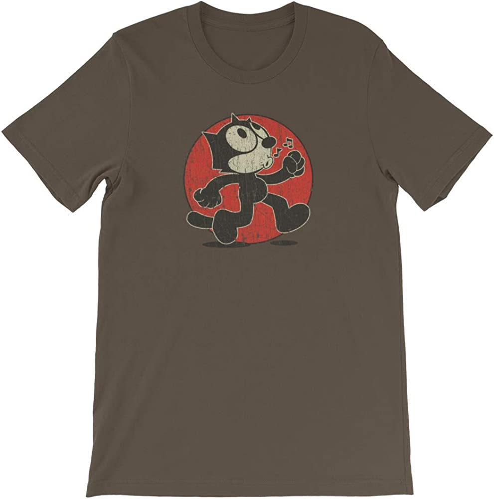 Felix The Cat Cartoon Classic T-shirt  Mens Tee Old school Gift New From US