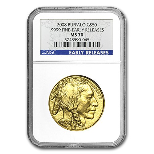 2008 1 oz Gold Buffalo MS-70 NGC (Early Releases) 1 OZ MS-70 NGC