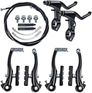 Universal Bicycle Brake Kit V Brakes Set Replacement Fit Bicycle Brake Levers Suitable for Bicycles, Road Bike