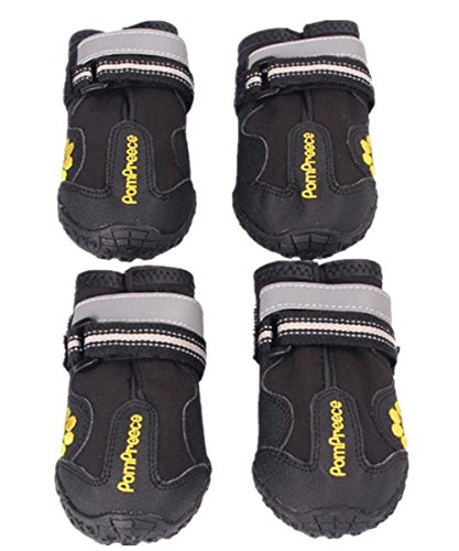 Baby Boys Dog Boots Pet Shoes Breathable Dog Paw Protectors