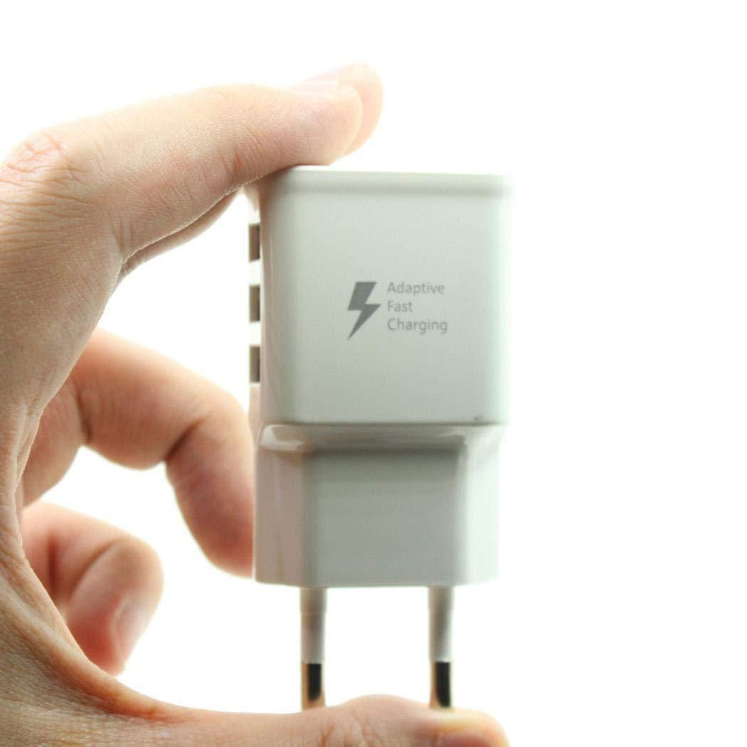 Minlop 3-Port USB Schnell Ladegerät Reise EU Stecker Netzteil Netzteil mit Quick-Charging Schnellladefunktion für Handys Mobiltelefon,Weiß