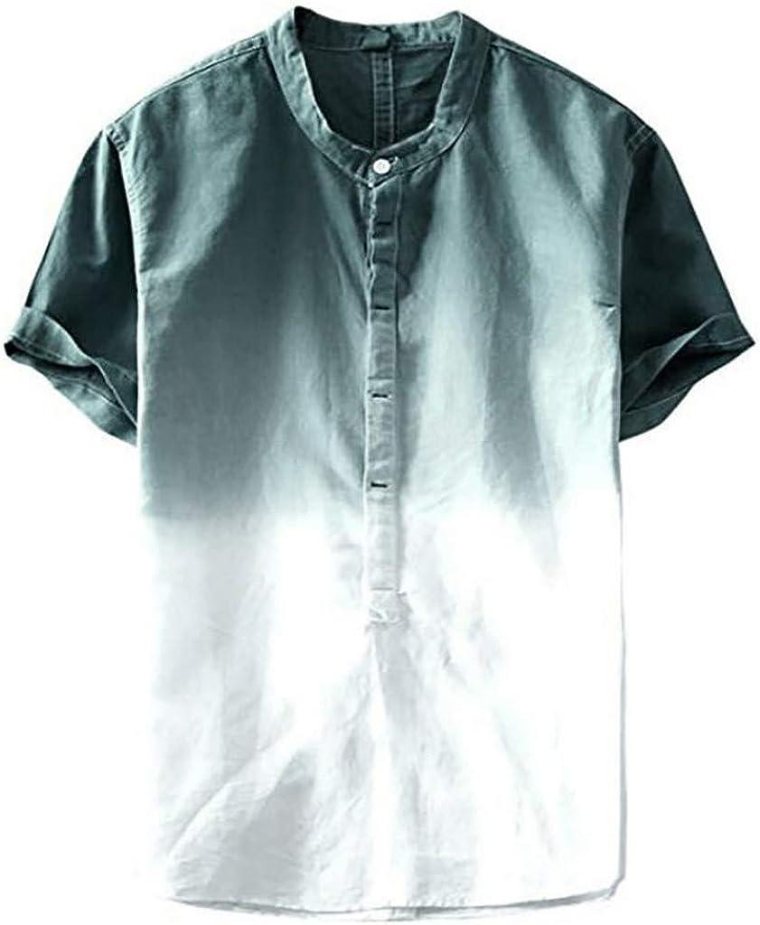 HLIYY - Camisa de Manga Corta de algodón de Grado ...