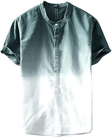 Fannyfuny camiseta Hombre Camisa Verano Causales Camisetas Empalme ...