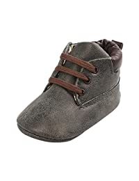 Voberry Toddler Baby Boy's Leather Sneaker Shoes Lace up Snow Boots Warm