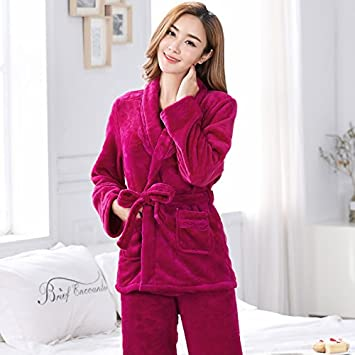 Printemps Matin Automne Robe Femme D'hiver Wanglele Pyjama Et XSvdXw