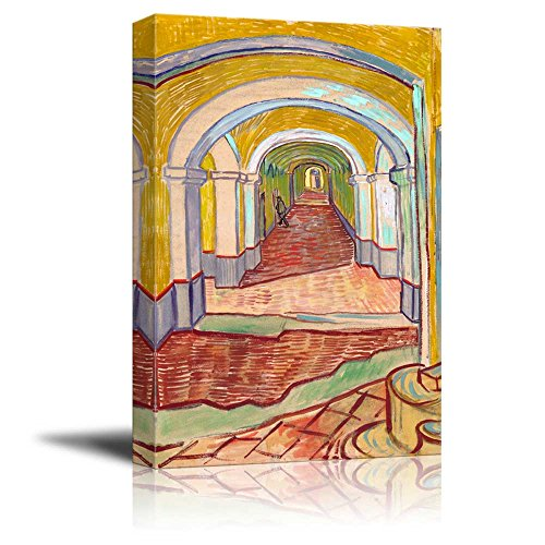 Corridor in the Asylum by Vincent Van Gogh Print Famous Painting Reproduction