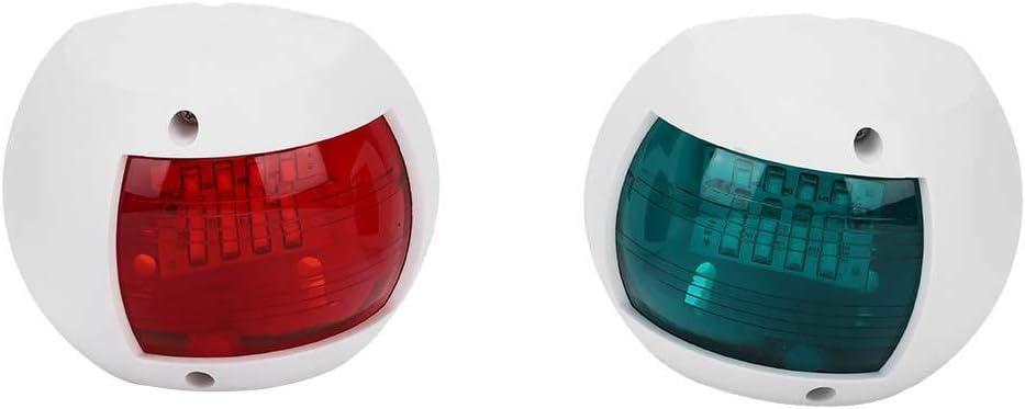 Gorgeri Luz de se/ñalizaci/ón para barcos de 1 par Blanco DC12V-24V 3W Luz de navegaci/ón impermeable para barcos Luz de se/ñal esf/érica roja verde verde para yates