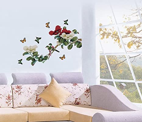 3D Color Flower Butterfly 812 Removable Wallpaper Self Adhesive Wallpaper Extra Large Peel /& Stick Wallpaper Wallpaper Mural AJ WALLPAPERS