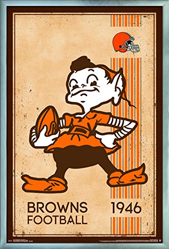 - Trends International Cleveland Browns - Retro Logo Wall Poster 24.25