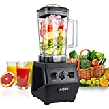 : Aicok Blender 1500W Professional High Speed Blender 25,00000rpm Commercial Smoothie Mixer Heavy Duty Food Processor for Ice, Soup, Mincemeat, Nut butter with 70oz Large Tritan Pitcher, Black
