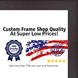 Cheap Poster Palooza 12×19 Rustic Cappuccino Wood Picture Frame – UV Acrylic, Foam Board Backing, Hanging Hardware Included!