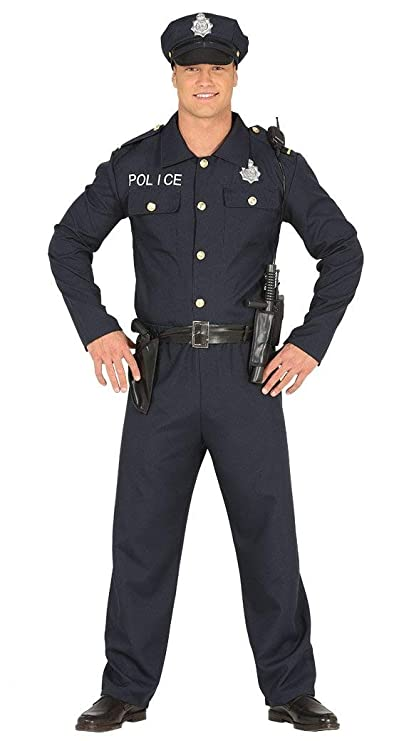 Fiestas Guirca Costume Adulte Policier Policier américain  Amazon.fr   Sports et Loisirs 41e5918dad8
