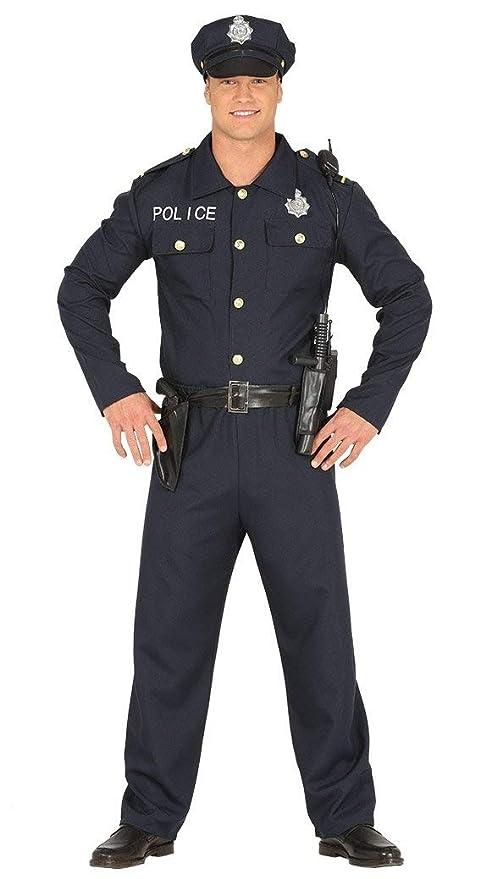 0c51017611 Guirca Costume Poliziotto per Adulti, Colore Blu, L, 88172: Guirca ...