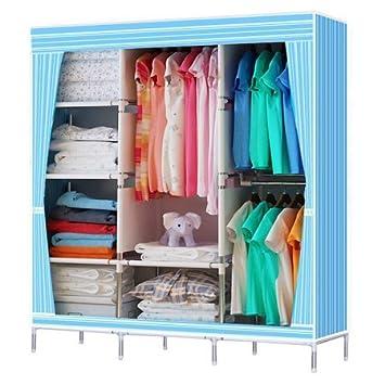 68u0026quot;+70u0026quot; Portable Garment Closet Large Wardrobe Garment Hanger  Closet Organizer Storage Rack
