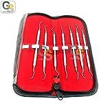 G.S PERIODONTAL Gracey CURETTES Set of 7 PCS Dental Instruments Double END Best Quality