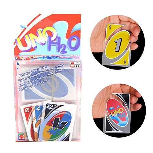 UNO Card Games,Standard Playing Card Waterproof Clear Poker Card for Family Party Kids Toy - Kid Poker