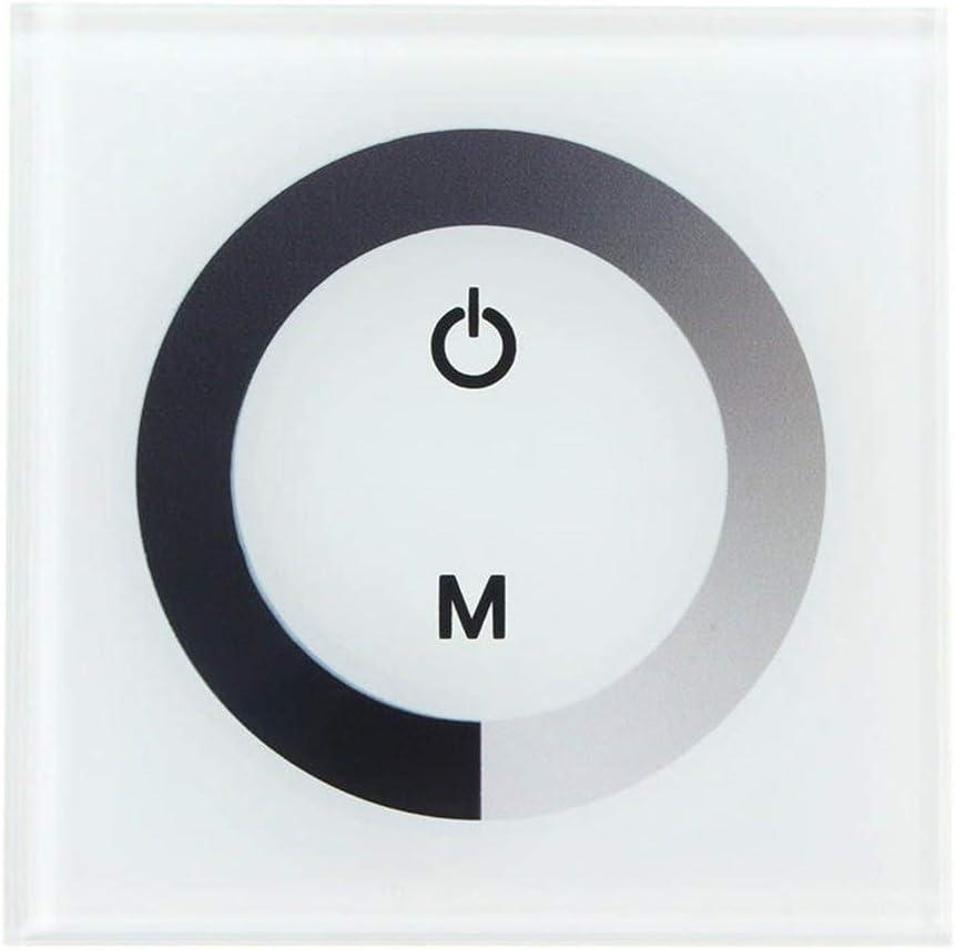 Controlador de LED Controlador del interruptor de 12V CC 24V de un solo color de panel táctil Dimmer Wall en Tira de luz LED Controlador
