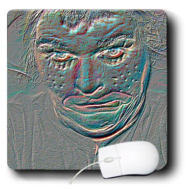 3Drose 8 X 8 X 0.25 Inches Mouse Pad An Embossed Halloween Clown Face That Is Pretty Scary and Weird -
