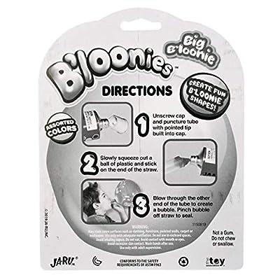 JA-RU B'loonies Plastic Balloon Variety 4 (4 Tubes in 1 Pack) Great Original Bloonies Bubble Making. Plus 1 Bouncy Ball 771-1C: Toys & Games