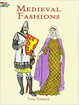 medieval fashions coloring book dover fashion coloring book tom tierney 9780486401447 amazoncom books - Fashion Coloring Book
