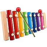 Oyedens Baby Kid 5 Xylophone Wisdom Development Wooden Musical Instrument Toys