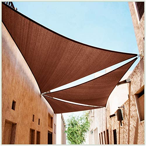 ColourTree CTAPT14 Custom Size Order to Make 18' x 24' x 30' Brown Right Triangle Sun Shade Sail Canopy Mesh Fabric UV Block