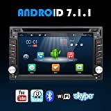 Android 7.1 WIFI Model 4-Core 2G RAM 16G ROM Double din Car dvd Player Stereo GPS Navigation for Universal car With Free Camera Support Mirror Link/DAB/OBD/Bluetooth/FM/AM/SD USB Up to 128GB