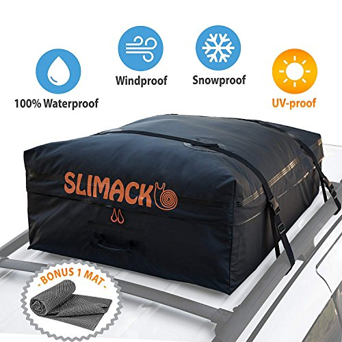 Rooftop Waterproof Carrier Bag (Rooftop Cargo Carrier Bag Waterproof Luggage Carrier For Cars Vans and SUVs Roof Top Storage Soft Cargo Bag Luggage Travel Bag With Protective Anti-Slip Mat and Straps 13.5 Cubic Feet)