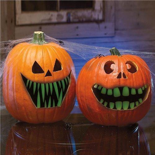 Pumpkin Teeth Glow in the dark
