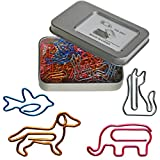 Cool Paper Clips Assorted Sizes - Animal Shaped Bookmark Clips - Funny Desk Accessories Office Supplies Decor Gift Birthday Gift for Women