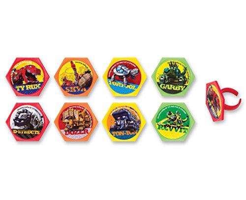 Dinotrux Reptools Cupcake Rings
