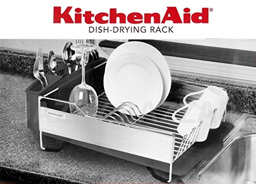 Kitchenaid Dish Drying Rack   Stainless Steel Dark Grey: Amazon.co.uk:  Kitchen U0026 Home