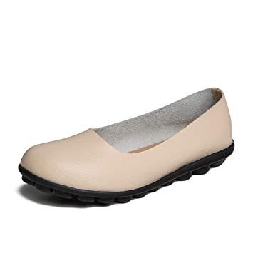 86455b1fef23b Amazon.com: DETAIWIN Women Faux Leather Loafers Spring Autumn Slip ...