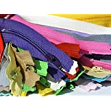"25 Assorted 22"" & 20\"" Zippers Nylon Coil YKK #3 Skirt and Dress - Closed Bottom (25 Zippers/pack)"