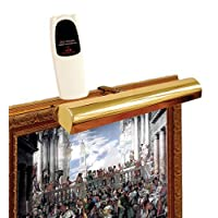 Concept 101L Cordless Remote Control LED Picture Light- 11 1/2 inch Polished Brass by Concept Lighting