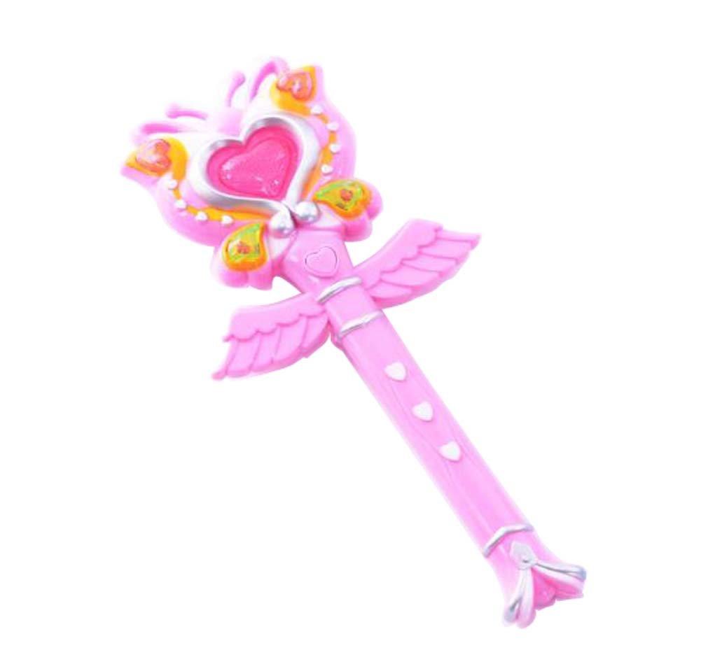 Cute Magic Cents / Flash Fairy Sticks Girls Electronic Toy-Pink Black Temptation