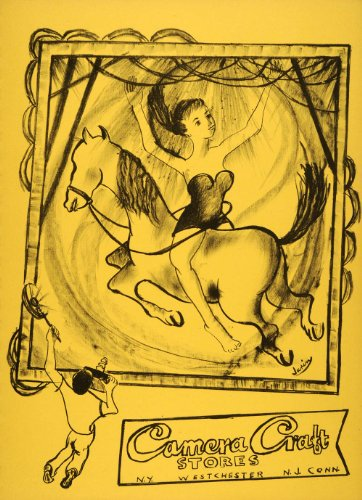 1952-original-lithograph-acrobat-horse-dancer-camera-craft-lilly-jurin-hobby-original-lithograph