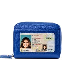 RFID Blocking Leather Wallet for Women,Excellent Womens Genuine Leather Credit Card Holder
