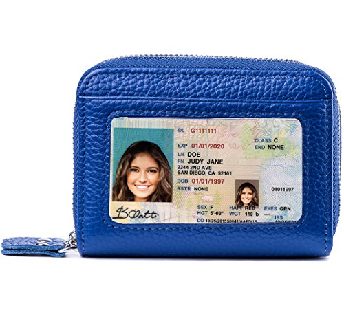 - RFID Blocking Leather Wallet for Women,Excellent Women's Genuine Leather Credit Card Holder