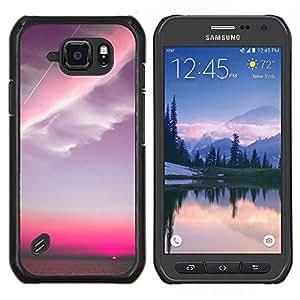 Stuss Case / Funda Carcasa protectora - Pink Sky Plano Nubes Sunset - Samsung Galaxy S6Active Active G890A