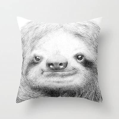 Sunshines Sloth Canvas Pillow Cover Throw Pillowcase 18 X 18 Inches Square Throw Pillow Cover - Sunshinespillow