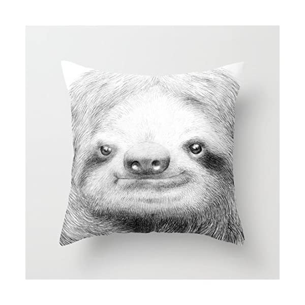 Sunshines Sloth Canvas Pillow Cover Throw Pillowcase 18 X 18 Inches Square Throw Pillow Cover -