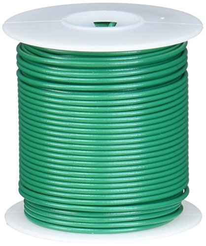 Remington Industries 22UL1007SLDGRE UL1007 22 AWG Gauge Solid Hook-Up Wire, 300V, 0.0253'' Diameter, 100' Length, Green by Remington Industries
