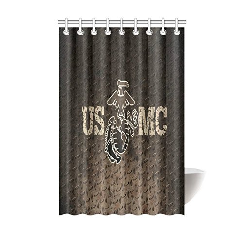 Christmas/Thanksgiving Gifts USMC United States Marine Corps Marines Semper Fi Waterproof Bathroom decor Fabric Shower Curtain Polyester 48 x 72 inches