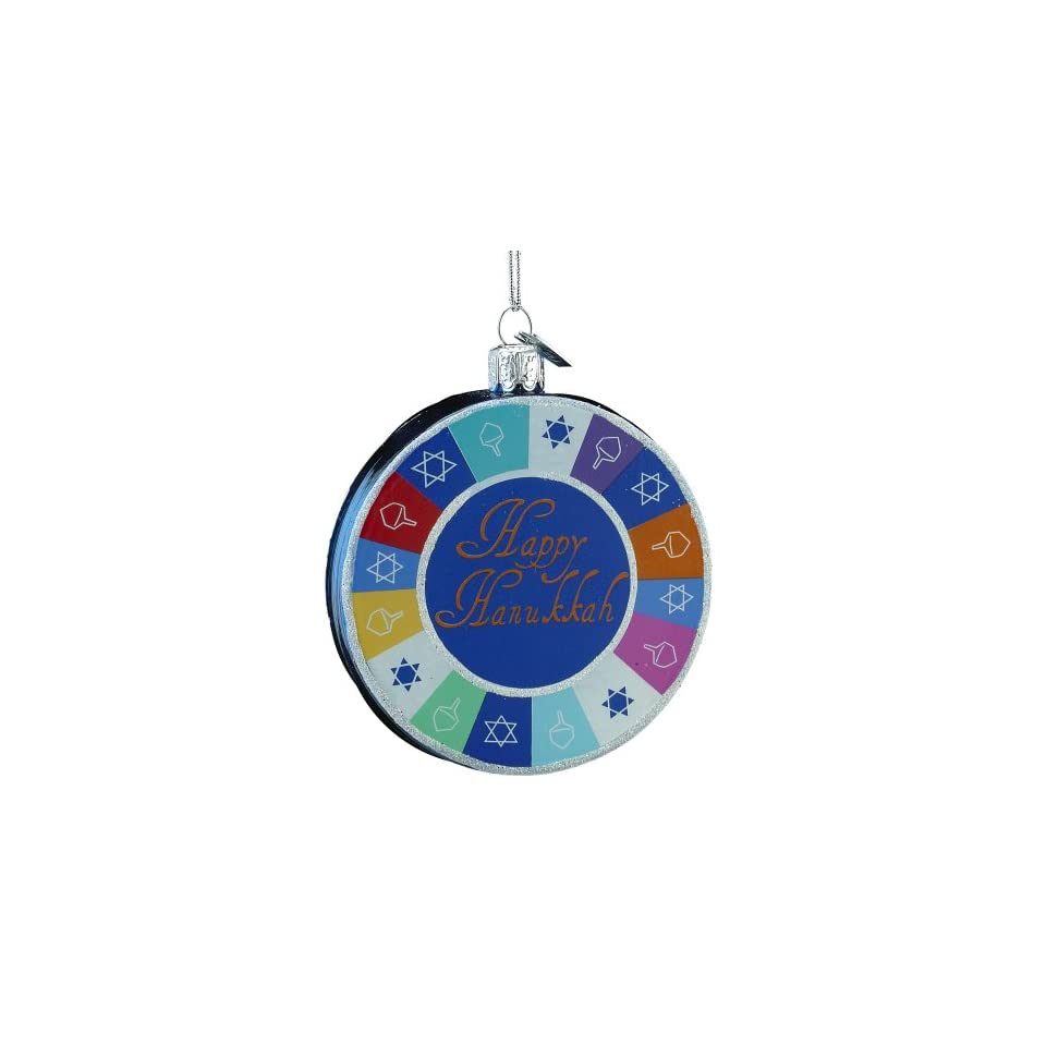 Kurt Adler Noble Gems Hanukkah Ornament, 3.25 Inch
