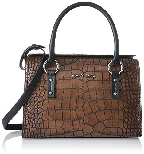 ARMANI JEANS Bauletto Womens Handbag - Armani Brown Bag