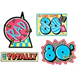 Beistle 54340 4-Pack Awesome 80's Cutouts, 16-Inch