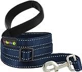 Kakadu Pet Empire Tracks Extendible Nylon Dog Lead, 1/2″ x 4-6ft, Marine (Blue with White Stitch), My Pet Supplies